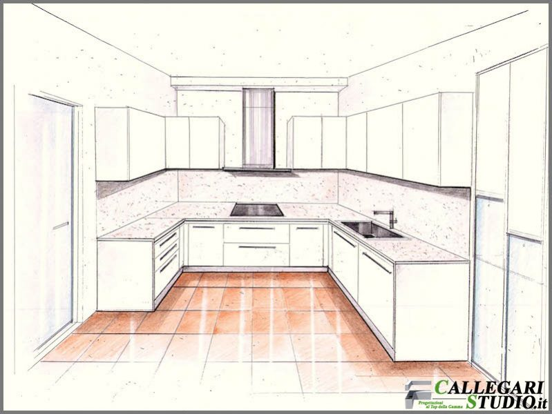 Come Disegnare Una Cucina. Open Zoom With Come Disegnare Una ...
